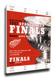 2002 NHL Stanley Cup Mega Ticket - Detroit Red Wings Stretched Canvas Print