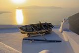 Boat on Rooftop, Santorini, Greece Photographic Print by Françoise Gaujour