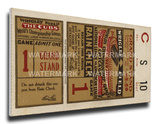 1929 World Series Mega Ticket - Chicago Cubs Stretched Canvas Print