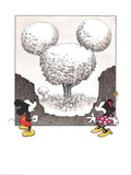 Mickey and Minnie looking at a Mouse Shaped Tree Prints