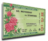 1936 Rose Bowl Mega Ticket - Stanford Indians Stretched Canvas Print