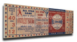 1952 MLB All-Star Game Mega Ticket - Athletics Host - Shibe Park Stretched Canvas Print