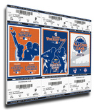 2013 MLB All-Star Game Mega Ticket Strip - New York Mets Stretched Canvas Print