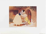 Walt Disney's Snow White and the Seven Dwarfs: Snow White Kisses Dopey Art