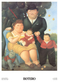 Una Famiglia Sammlerdruck von Fernando Botero