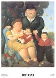 Una Famiglia Collectable Print by Fernando Botero