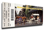 2008 BCS National Championship Game Mega Ticket - LSU Tigers Stretched Canvas Print