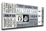 1954 MLB All-Star Game Mega Ticket - Indians Host - Cleveland Municipal Stadium Stretched Canvas Print