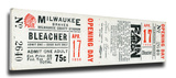 Milwaukee Braves 1956 Opening Day Mega Ticket Stretched Canvas Print
