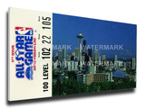 1987 NBA All-Star Game Mega Ticket, SuperSonics Host - MVP Tom Chambers, SuperSonics Stretched Canvas Print