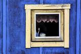 Window from a Chalet in the Village Ilulissat, Greenland Photographic Print by Françoise Gaujour