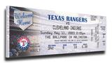 Rafael Palmeiro 500 Home Run Mega Ticket - Texas Rangers Stretched Canvas Print