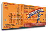 1943 MLB All-Star Game Mega Ticket - Athletics Host - Shibe Park Stretched Canvas Print