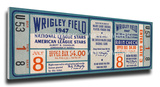 1947 MLB All-Star Game Mega Ticket - Cubs Host - Wrigley Field Stretched Canvas Print