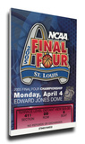 2005 Final Four Mega Ticket - North Carolina Tar Heels Stretched Canvas Print