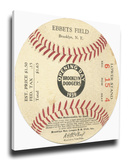Brooklyn Dodgers 1939 Opening Day Mega Ticket - Ebbets Field Stretched Canvas Print