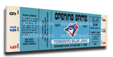 Toronto Blue Jays 1977 Opening Day / Inaugural Game Mega Ticket Stretched Canvas Print