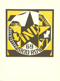 Skid Row Collectable Print by Robert Indiana