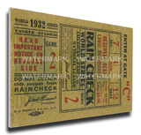 1932 World Series Mega Ticket - New York Yankees Stretched Canvas Print