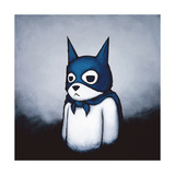 Bat Bear Premium Giclee Print by Luke Chueh