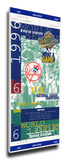 1996 World Series Mega Ticket - New York Yankees Stretched Canvas Print