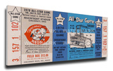 1970 MLB All-Star Game Mega Ticket, Reds Host - MVP Carl Yastrzemski, Red Sox Stretched Canvas Print