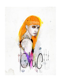 Anger Chic Premium Giclee Print by  Mydeadpony