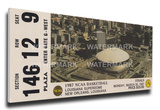 1987 NCAA Basketball Finals Mega Ticket - Indiana Hoosiers Stretched Canvas Print