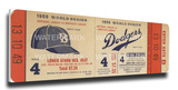 1955 World Series Mega Ticket - Brooklyn Dodgers Stretched Canvas Print