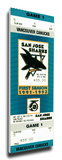 San Jose Sharks Inaugural Game Mega Ticket Stretched Canvas Print