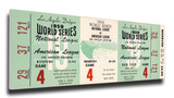 1959 World Series Mega Ticket - Los Angeles Dodgers Stretched Canvas Print
