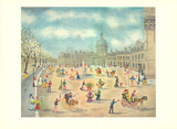 La Place Pres de la Route Collectable Print by Claude Tabet