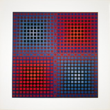 Planetary Folklore II Collectable Print by Victor Vasarely