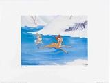 Walt Disney's Bambi: Bambi Tries to Skate Poster