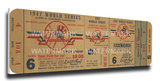 1947 World Series Mega Ticket - New York Yankees Stretched Canvas Print