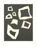 Constellation-7 Blanches sur Noir Posters av Jean Arp