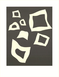 Constellation-7 Blanches sur Noir Art by Jean Arp