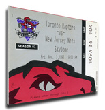 Toronto Raptors Inaugural Game Mega Ticket Stretched Canvas Print