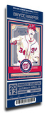 Bryce Harper Artist Series Mega Ticket - Washington Nationals Stretched Canvas Print