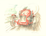 Maserati Collectable Print by Alain Moitrier