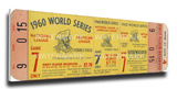 1960 World Series Mega Ticket - Pittsburgh Pirates Stretched Canvas Print