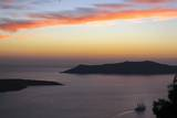 Sunset on the Caldeira of Santorini, Greece Photographic Print by Françoise Gaujour