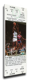 JoJo White Mega Ticket - Boston Celtics Stretched Canvas Print