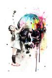 Girls Love Skulls Plakater af Lora Zombie