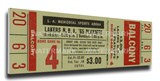 1965 NBA Championship Mega Ticket - Game 1, Lakers vs Celtics Stretched Canvas Print