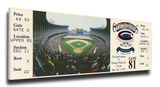 Final Game at Cleveland Stadium Mega Ticket - Cleveland Indians Stretched Canvas Print