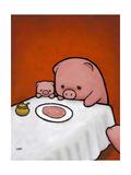 Revenge Is a Dish (Pig) Premium Giclee Print by Luke Chueh
