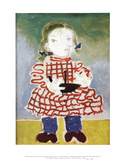Maya in a Pinafore Print by Pablo Picasso