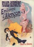 Folies-Bergere Emilienne d'Alencon Collectable Print by Jules Chéret