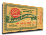 1954 Rose Bowl Mega Ticket - Michigan State Spartans Stretched Canvas Print